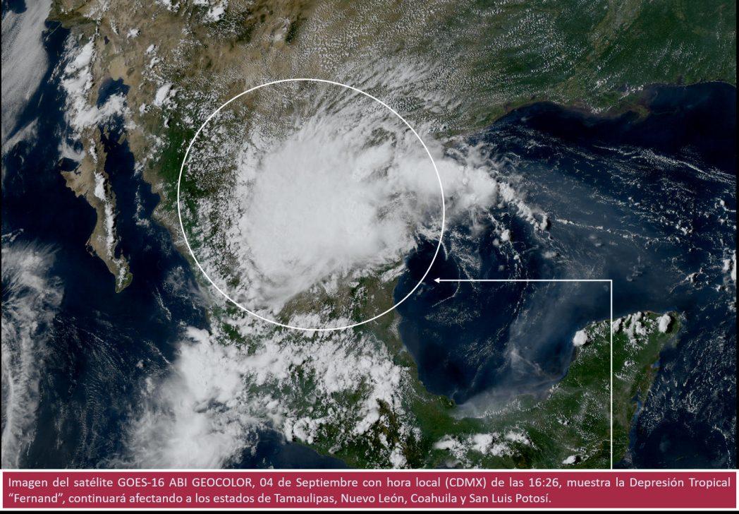 Alerta el SMN por tormenta tropical 'Lorena' en el pacífico