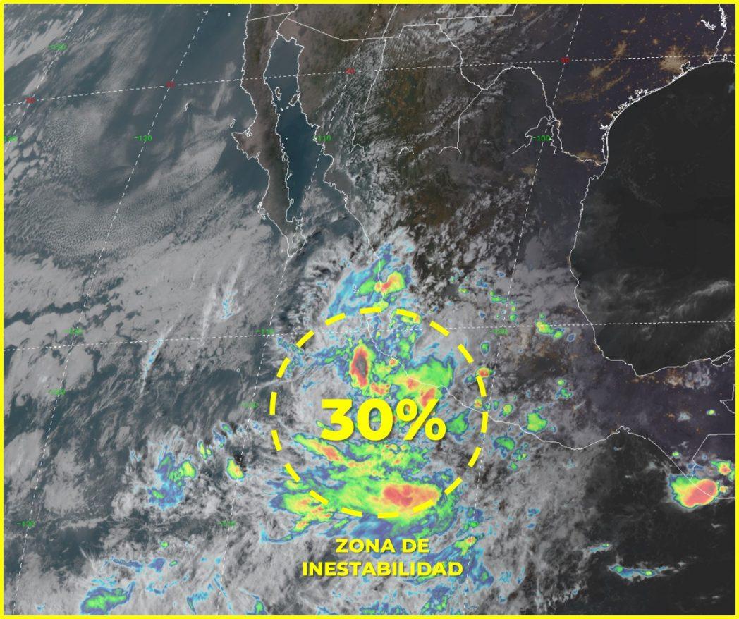 Podría desarrollarse un ciclón en las próximas 48 horas frente a costas colimenses