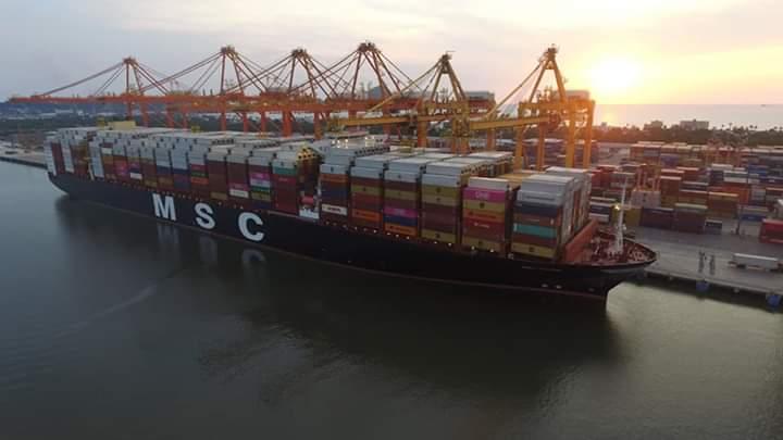 Recibe Contecon el buque mas grande en la historia del Puerto de Manzanillo