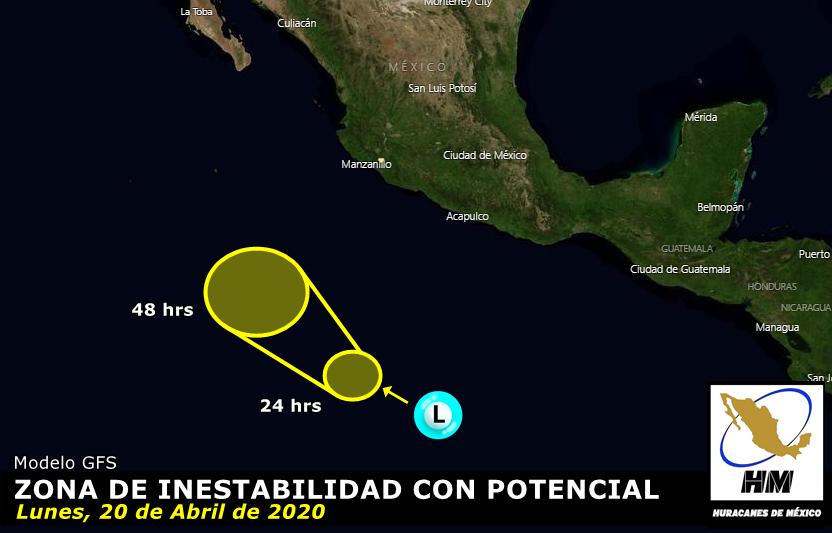 Podría formarse el primer ciclón en el Pacífico Mexicano