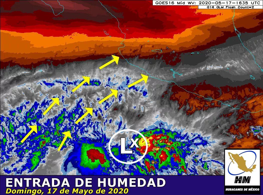 Detectan centro de Baja Presión a 700 km de Manzanillo