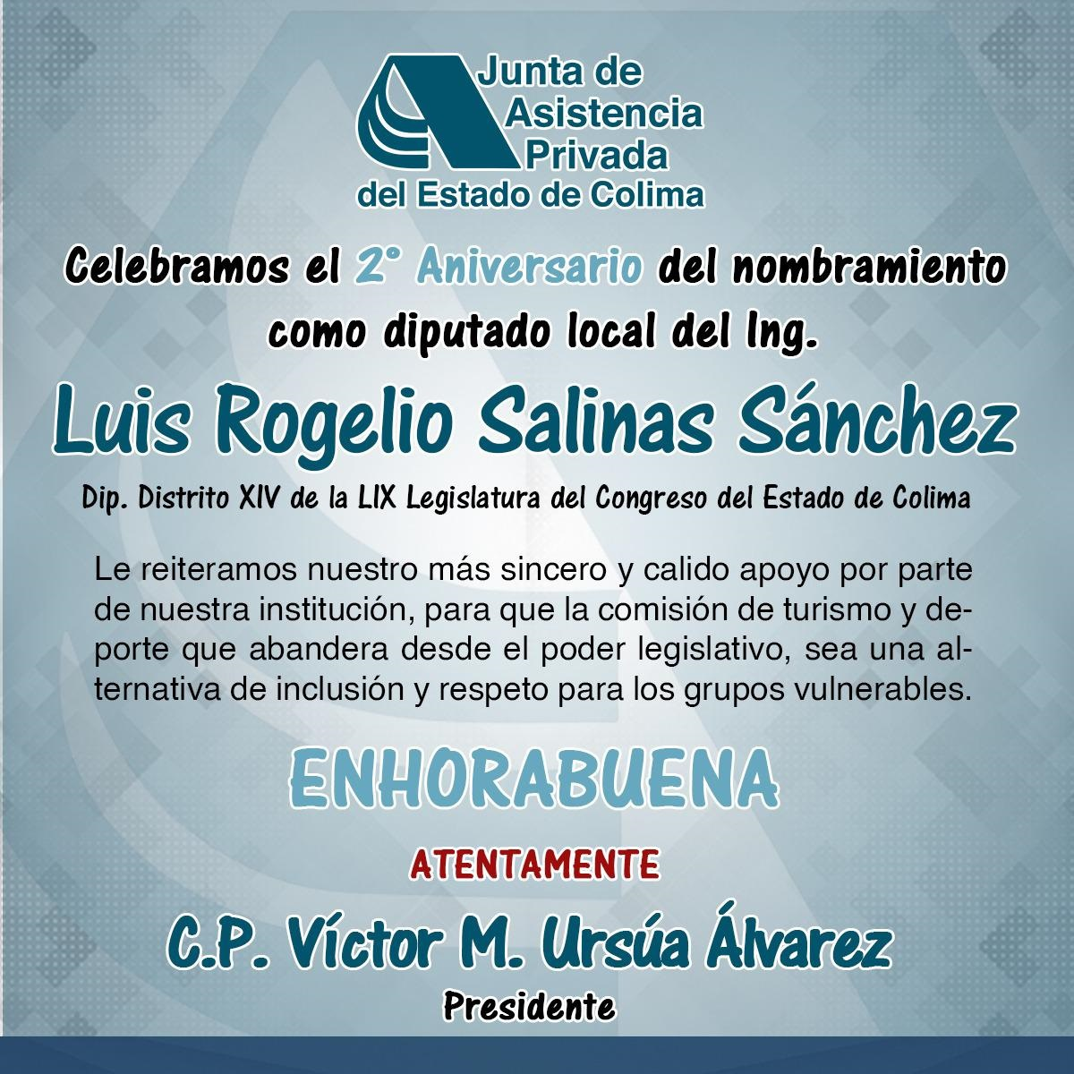 Reconoce JAP Colima sensibilidad política del diputado Rogelio Salinas
