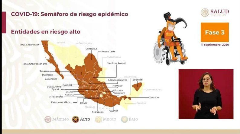 Colima pasa a color naranja en el semáforo epidemiológico